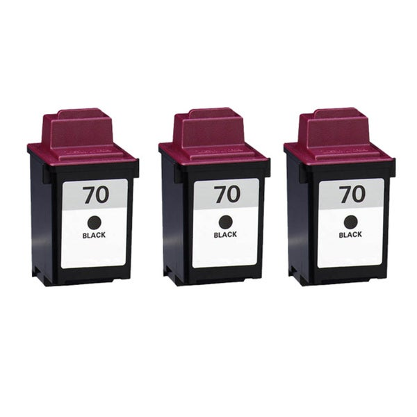 Lexmark 70 Black Compatible Ink Cartridges (Pack of 3)
