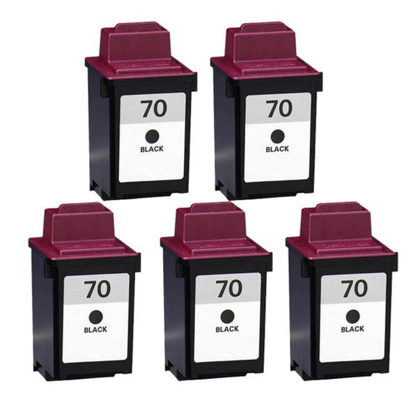 Lexmark 70 Black Compatible Ink Cartridges (Pack of 5)