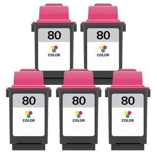 Lexmark 80 Color Compatible Ink Cartridges (Pack of 5)