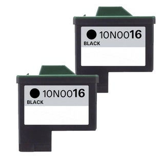 Lexmark #16 (10N0016) Black Compatible Ink Cartridge (Pack of 2)