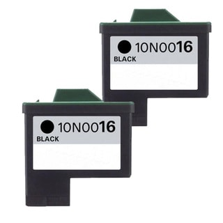 Lexmark #16 (10N0016) Black Compatible Ink Cartridge (Pack of 2)