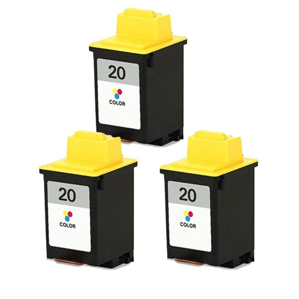 Lexmark #20 (15M0120) Color Compatible Ink Cartridge (Pack of 3)