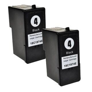Lexmark #4 (18C1974) Black Compatible Ink Cartridge (Pack of 2)