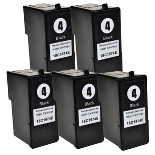 Lexmark #4 (18C1974) Black Compatible Ink Cartridge (Pack of 5)