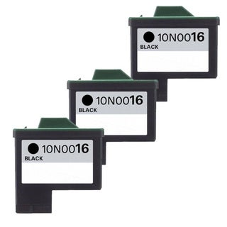 Lexmark #16 (10N0016) Black Compatible Ink Cartridge (Pack of 3)