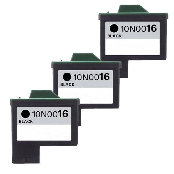 Lexmark #16 (10N0016) Black Compatible Ink Cartridge (Pack of 3)