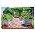 David Lloyd Glover 'The Beautiful Italian Garden' Canvas Art