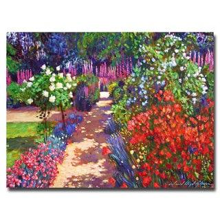 David Lloyd Glover 'Romantic Garden Walk' Canvas Art