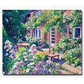 David Lloyd Glover 'English Courtyard' Canvas Art