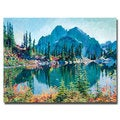 David Lloyd Glover 'Reflections on Gem Lake' Canvas Art