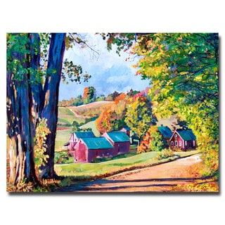 David Lloyd Glover 'Road to Jenne Farm Vermont' Canvas Art