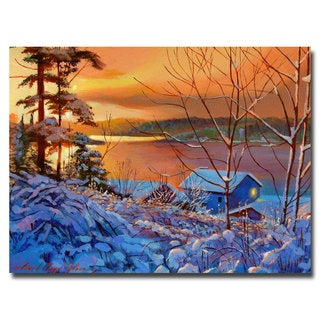 David Lloyd Glover 'Winter Day Begins' Canvas Art