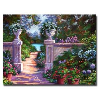 David Lloyd Glover 'Sir Thomas Estate Garden' Canvas Art