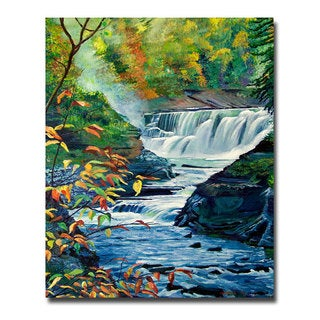 David Lloyd Glover 'Geneese River in Autumn' Canvas Art