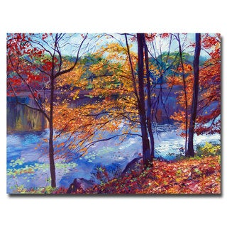David Lloyd Glover 'Falling Leaves' Canvas Art