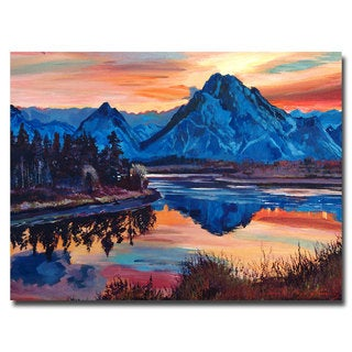 David Lloyd Glover 'Mountain Serenade' Canvas Art