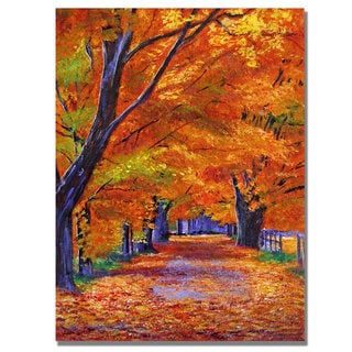 David Lloyd Glover 'Leafy Lane' Canvas Art