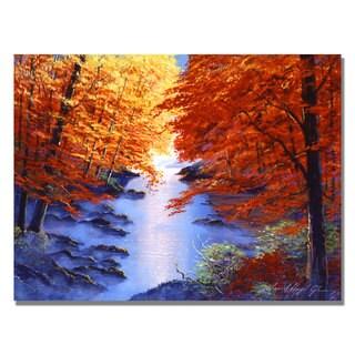 David Lloyd Glover 'Misty Blue Morning' Canvas Art