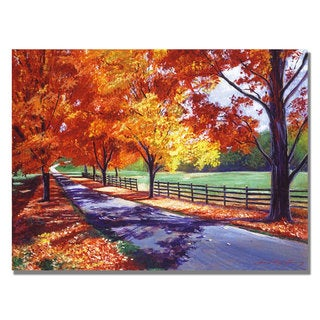 David Lloyd Glover 'October Road' Canvas Art