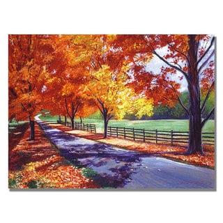 David Lloyd Glover 'October Road' Canvas Art