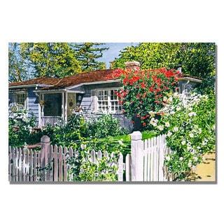 David Lloyd Glover 'Rose Cottage' Canvas Art