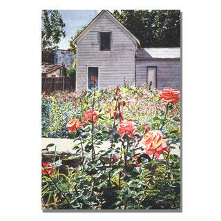David Lloyd Glover 'Rose Garden' Canvas Art