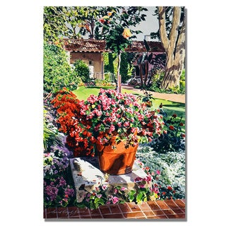 David Lloyd Glover 'Santa Barbra Garden' Canvas Art