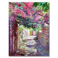 David Lloyd Glover 'Shady Lane Greece' Canvas Art