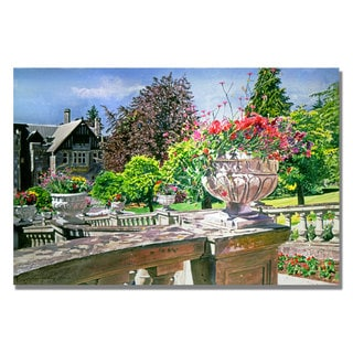 David Lloyd Glover 'Spring in Hatley Park' Canvas Art