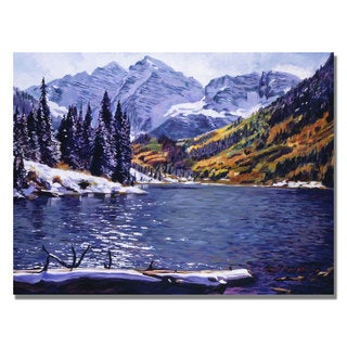 David Lloyd Glover 'Rocky Mountain Solitude' Canvas Art
