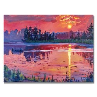David Lloyd Glover 'Daybreak Reflection' Canvas Art