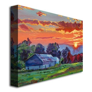 David Lloyd Glover 'The Sun Sets Over The Hill' Canvas Art