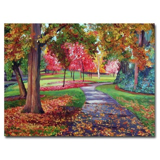 David Lloyd Glover 'September Park' Canvas Art
