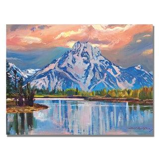 David Lloyd Glover 'Majestic Blue Mountain' Canvas Art