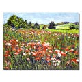 David Lloyd Glover 'Poppy Fields of France' Canvas Art