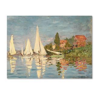 Claude Monet 'Regatta at Argenteuil' Canvas Art