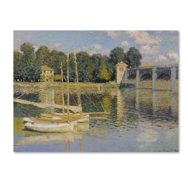 Claude Monet 'The Bridge at Argenteuil' Canvas Art