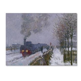 Claude Monet 'Train In the Snow' Canvas Art