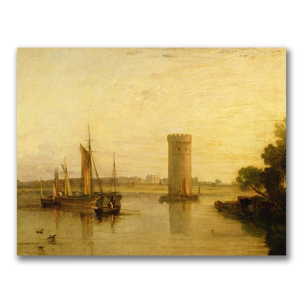 Joseph Turner 'Tabley seat of Sir JF Leicester' Canvas Art