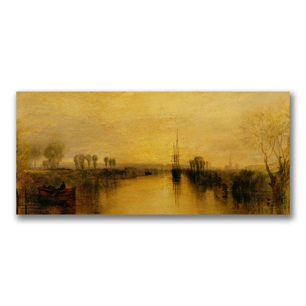 Joseph Turner 'Chichester Canal 1829' Canvas Art
