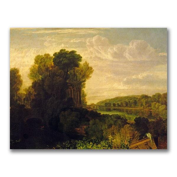 Joseph Turner 'The Thames at Weybridge' Canvas Art