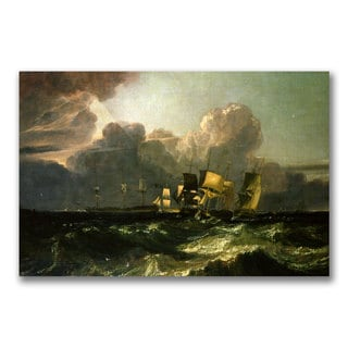 Joseph Turner 'Ships Bearing up for Anchorage' Canvas Art
