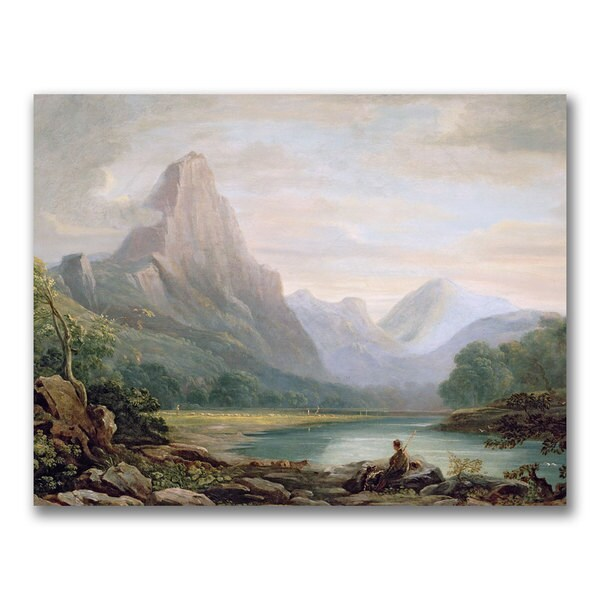 John Varley 'A Welsh Valley' Canvas Art