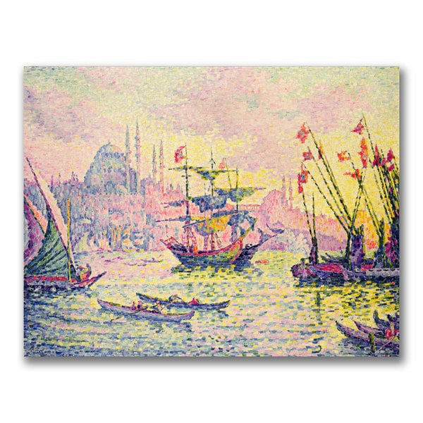 Paul Signac 'View of Constantinople' Canvas Art