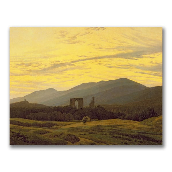 Caspar Friedrich 'Ruins in the Riesengebirge' Canvas Art