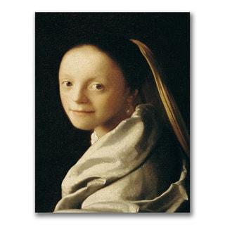 Jan Vermeer 'Portrait of a Young Woman' Canvas Art