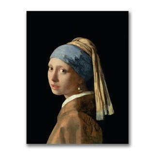 Jan Vermeer 'Girl with a Pearl Earring' Canvas Art
