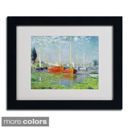 Claude Monet 'Argenteuil' Framed Matted Art
