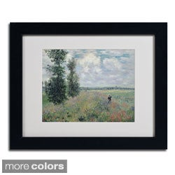 Claude Monet 'The Poppy Field' Framed Matted Art