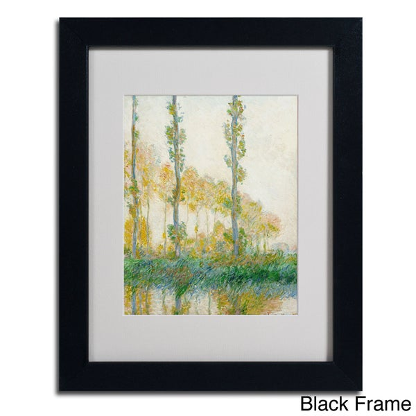 Claude Monet 'The Three Trees Autumn' Framed Matted Art